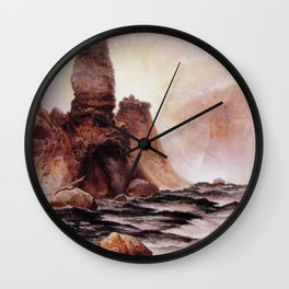 Tower Falls Yellowstone 1876 By Thomas Moran | National Park Scenery Reproduction Wall Clock