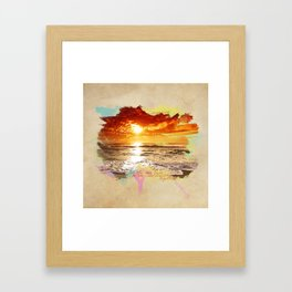 Let the sun fade. Framed Art Print