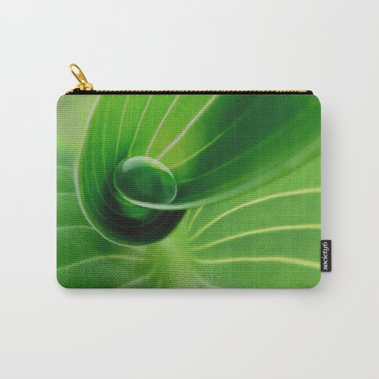 Leaf / Hosta with Drop (2) Carry-All Pouch