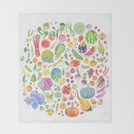 Seasonal Harvests Throw Blanket