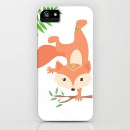 Little Yogi Fox iPhone Case