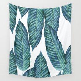Blue Banana Leaves #society6 Wall Tapestry