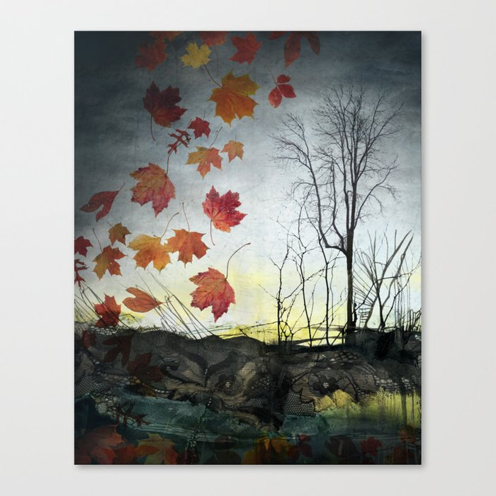 October (Falling) Canvas Print