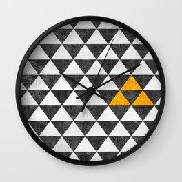 Triangle - Yellow III Wall Clock