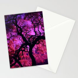Under the Tree in Pink and Purple Stationery Cards