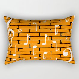 Music Wall Background Rectangular Pillow