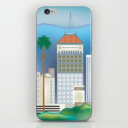Fresno, California - Skyline Illustration by Loose Petals iPhone Skin