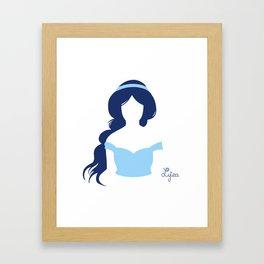 Jasmine Silhouette Framed Art Print