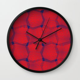 Red Perspectives Wall Clock