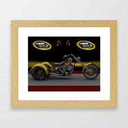 3ds 3 wheel #NASCAR chopper design with cup wheels by Scott Bates @ernhrtfan Framed Art Print