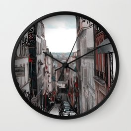 Patterns of Places - Paris Wall Clock