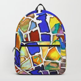 A walk in a beautiful garden Backpack