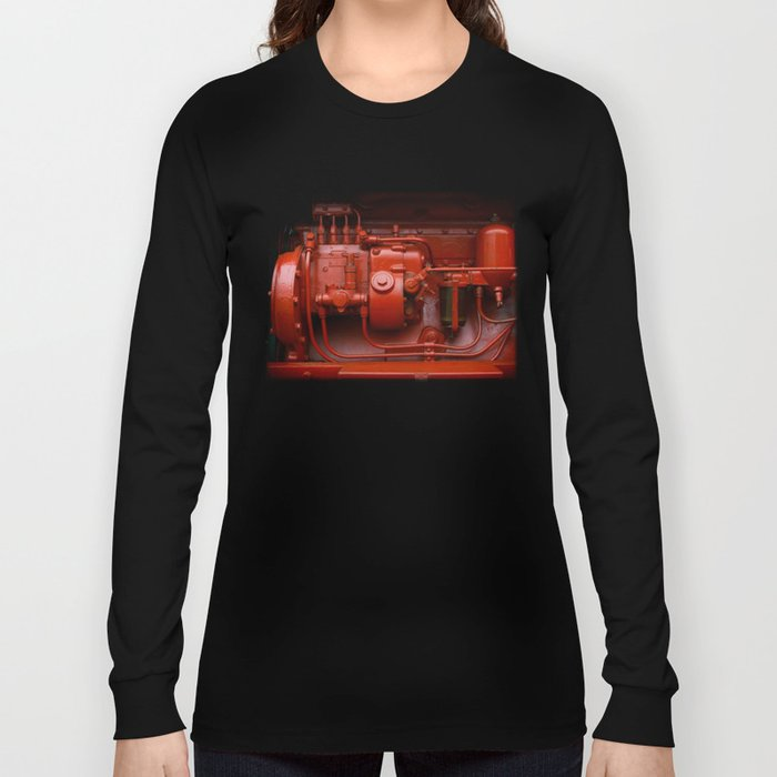 Red Tractor motor Long Sleeve T-shirt