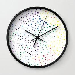 rainbow color geometric Wall Clock