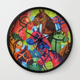 Happy Hobby-Horses Wall Clock