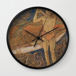 Sucking-Fish (Echeneis Remora) from Ichtylogie ou Histoire naturelle generale et particuliere des po Wall Clock