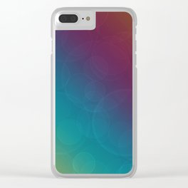 Bohek Bubbles on Rainbow of Color - Ombre multi Colored Spheres Clear iPhone Case