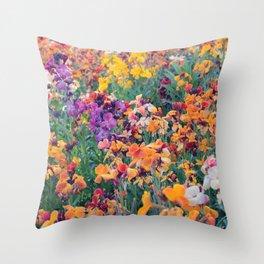 COLOUR POP // SPRING FLOWERS  Throw Pillow