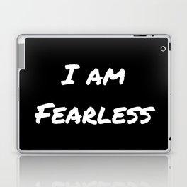 I AM FEARLESS BLACK Laptop & iPad Skin