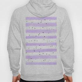 Modern pastel lavender black splatters stripes motif Hoody