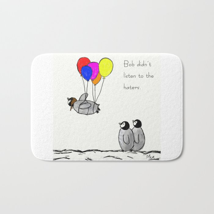 To be a Flying Penguin Bath Mat