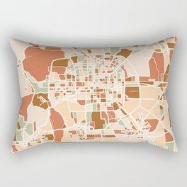BEIJING CHINA CITY MAP EARTH TONES Rectangular Pillow