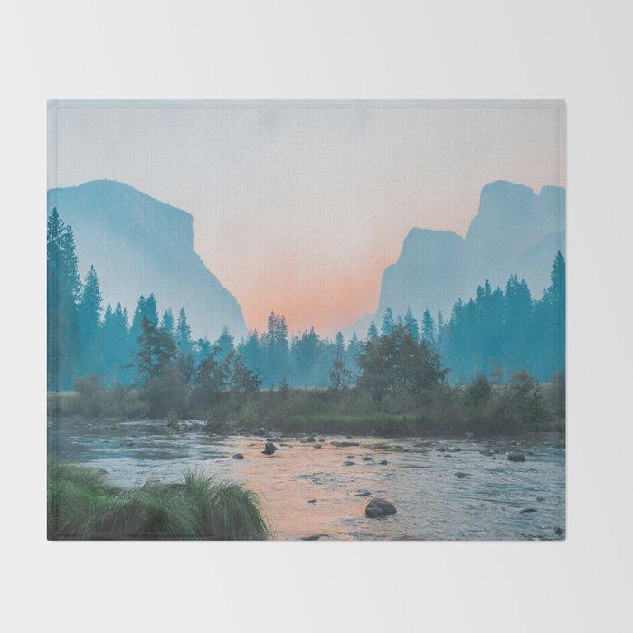 Pastel Yosemite #society6 #buyart Throw Blanket