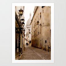 A walk to the Sacré Coeur Art Print