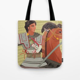 alexander the great mosaic riding a horse Tote Bag