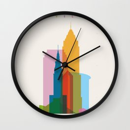Shapes of Cleveland accurate to scale Wall Clock
