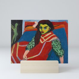 Ernst Ludwig Kirchner - Seated Girl, 1910 Mini Art Print