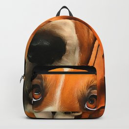 A Basset Hound. (Painting.) Backpack