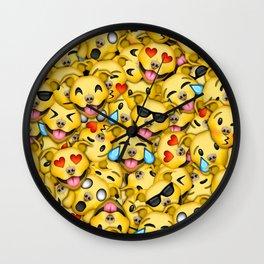 Pitbull Pattern Yellow Wall Clock