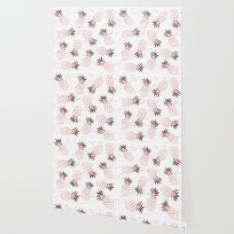 Elegant pineapple pattern Wallpaper