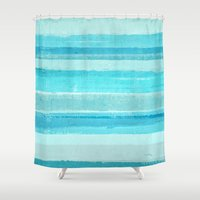 bar Shower Curtains featuring Sand Bar by T30 Gallery