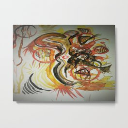 Aztec Abstract Design Metal Print