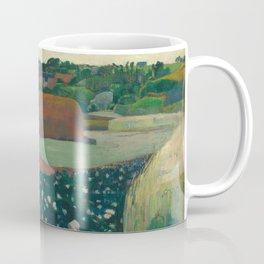 Haystacks in Brittany Oil Painting by Paul Gauguin Coffee Mug