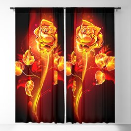 Fire Rose Blackout Curtain