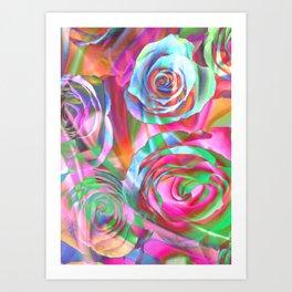 Drunk Roses Art Print