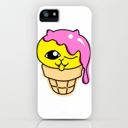 Waffle Cone Kitten iPhone Case