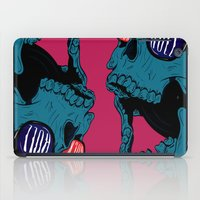rock n roll iPad Cases featuring Rock N' Roll Skull by Diseños Fofo