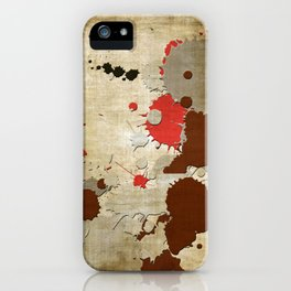 Abstract Lemonchiffon Burlywood Splash iPhone Case