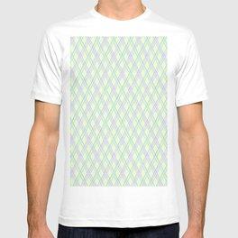 Gently green checkered pattern. T-shirt