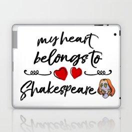 Heart Belongs to Shakespeare 2 (w/figure) Laptop & iPad Skin