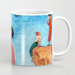 Magnolia flower, Mediterranean Seaside portrait painting by Nils Dardel Coffee Mug
