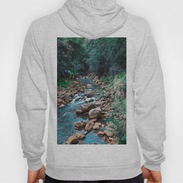 Flowing Botanical Garden Creek Portrait Hoody