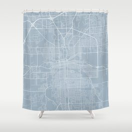 Fort Wayne Map, USA - Slate Shower Curtain