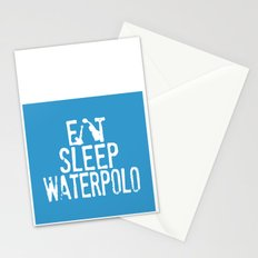 Eat sleep waterpolo Stationery Cards