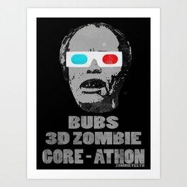 Bubs 3D Zombie Gore-athon Art Print