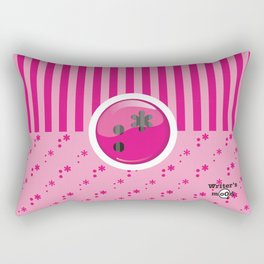 Pink Writer's Mood Rectangular Pillow